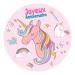 Disco di zucchero Unicorno arcobaleno (19 cm). n°1