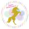 Disco di zucchero Unicorno Oro (19 cm) images:#0
