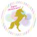 Disco di zucchero Unicorno Oro (19 cm). n°1