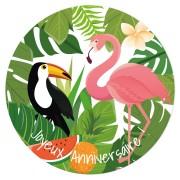 Disco di zucchero Tropical Paradise (19 cm)