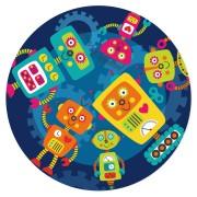 Disco di zucchero Robot Party (19 cm)