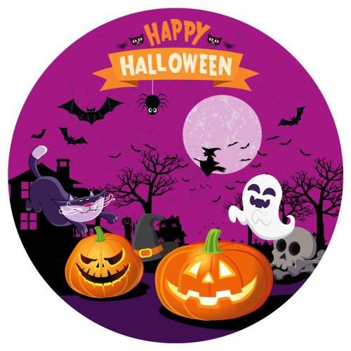 Disco di zucchero Felice Halloween (19 cm)