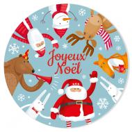 Disco di zucchero Girotondo di Natale (19 cm)