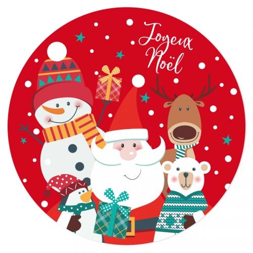 Disco di zucchero Babbo Natale rosso (19 cm)