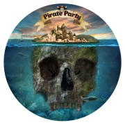 Disco da zucchero Pirati l'Isola fantasma (19 cm)