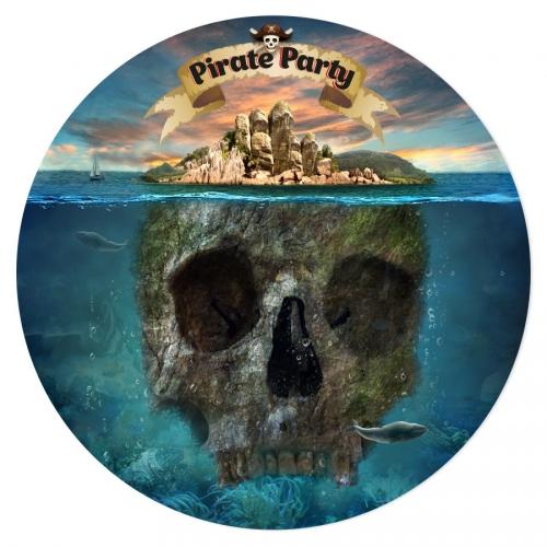 Disco da zucchero Pirati l Isola fantasma (19 cm)