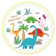 Disco di zucchero Dino Colors (19 cm)