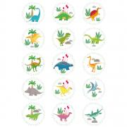 15 Dischi di zucchero Dino Colors - 50 mm