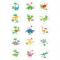 15 Dischi di zucchero Dino Colors - 50 mm images:#0