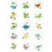 15 Dischi di zucchero Dino Colors - 50 mm. n°1