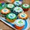 15 Dischi di zucchero Dino Colors - 50 mm images:#1