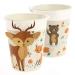6 Bicchieri Animali della foresta - Compostabile. n°3