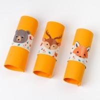 Contiene : 1 x 6 Portatovaglioli Animali della foresta - Riciclabile