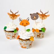 Kit Cupcakes Animali della foresta - Riciclabile