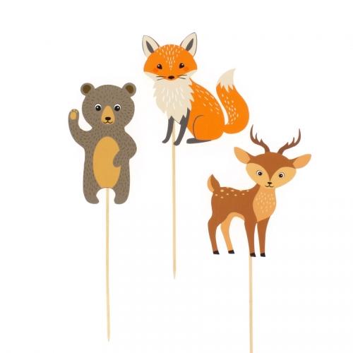 Cake Toppers Animali della foresta - Riciclabile