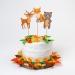 Cake Toppers Animali della foresta - Riciclabile. n°3