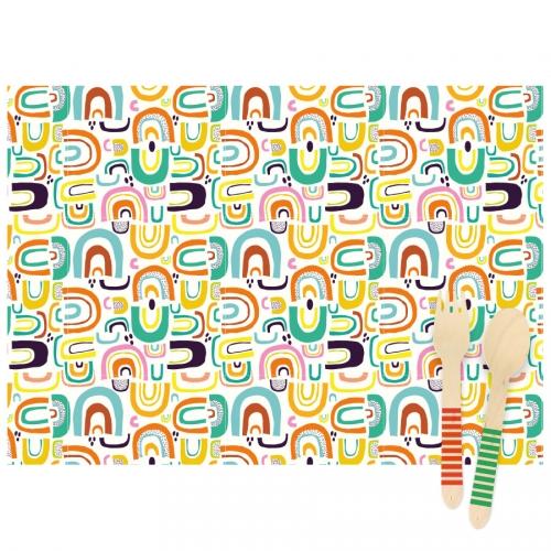 6 Tovagliette Rainbow - Riciclabile