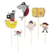 Cake Toppers Pirata Color - Riciclabile