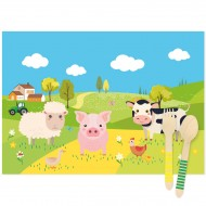 6 Tovagliette Animali della fattoria - Riciclabili