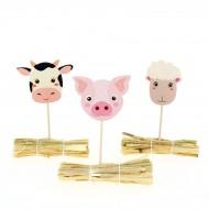 Kit Cupcakes Animali della fattoria - Riciclabile