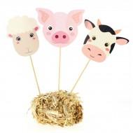 Cake Toppers Animali della fattoria - Riciclabile