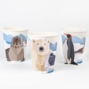 6 Bicchieri Animali Polari - Compostabile