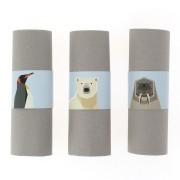 6 Portatovaglioli Animali Polari - Riciclabile