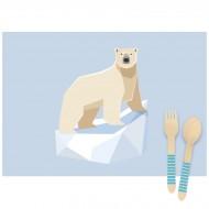 6 Tovagliette Animali Polari - Riciclabile