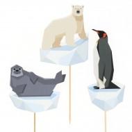 Cake Toppers Animali Polari - Riciclabile