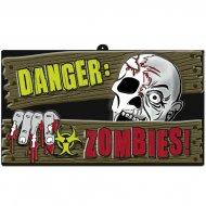 Cartello Pericolo Zombie in rilievo