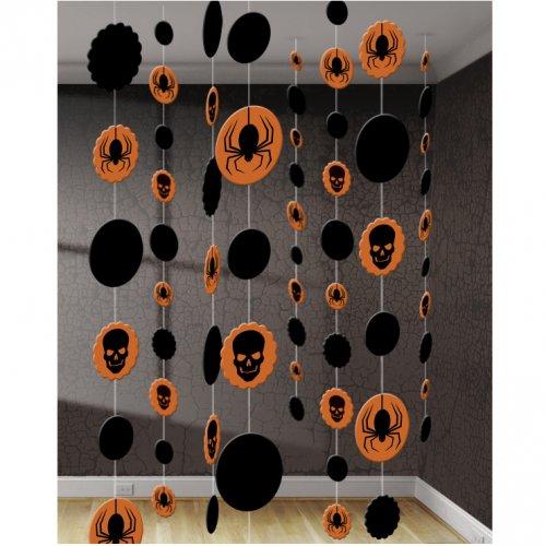 8 decorazioni da appendere Teschio e Ragno