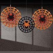 3 ventagli deco Halloween ragno