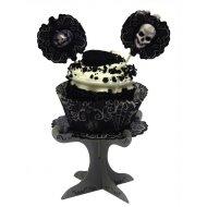 4 supporti per cupcake Teschio Barocco