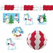 Kit 10 Decorazioni di Buone Feste Pupazzo di Neve