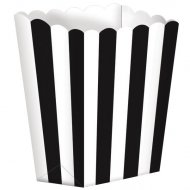 5 vasetti a righe Bianche/Nere