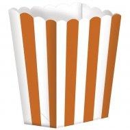 5 vasetti a righe Bianche/Arancioni