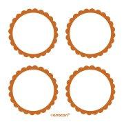 5 fogli di etichette Arancioni