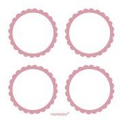 5 fogli di etichette Rosa pastello