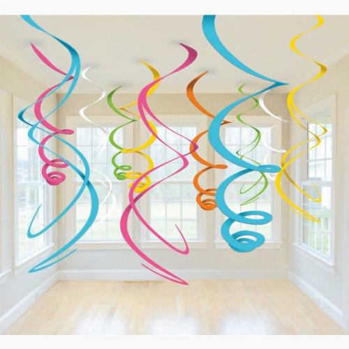 12 ghirlande a spirale 5 colori