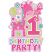 8 Inviti 1 anno Jungle bambina