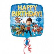 Palloncino piatto PAW Patrol Happy Birthay