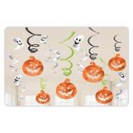 12 ghirlande a spirale Halloween Zucche e Fantasmi