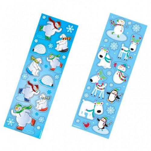8 fogli di adesivi Les Amis de Noël
