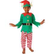 Travestimento da Elfo di Natale taglia 3-5 anni