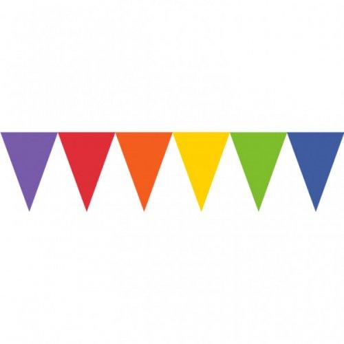 Ghirlanda 24 bandierine arcobaleno