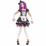 Travestimento Halloween Doll Rosa/Nero taglia 12-14 anni