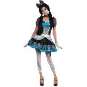 Travestimento Halloween Doll Rosa/Nero taglia 14-16 anni