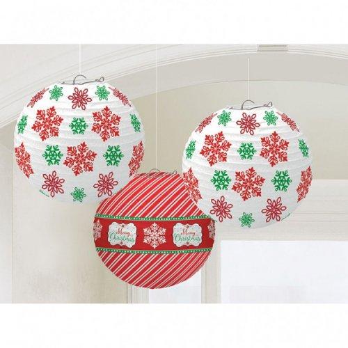 Lanterne di Natale palline di carta