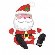 Palloncino centrotavola Babbo Natale seduto
