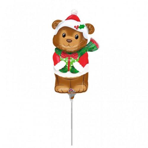 Palloncino sul fusto dell orso di Natale